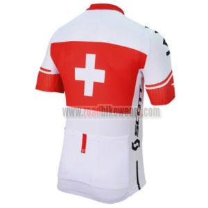 2017 Team IAM Switzerland Bicycle Jersey Maillot Shirt White Red