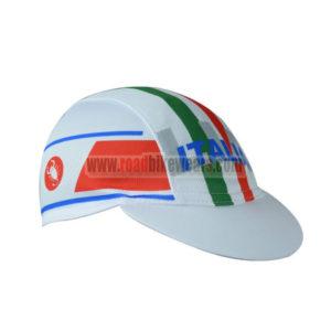 2017 Team ITALIA Riding Cap Hat White Red Green