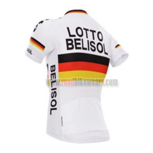 2017 Team LOTTO BELISOL Bicycle Jersey Maillot Shirt White