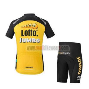 2017 Team LOTTO JUMBO Biking Kit Yellow Black