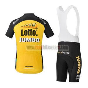 2017 Team LOTTO JUMBO Riding Bib Kit Yellow Black