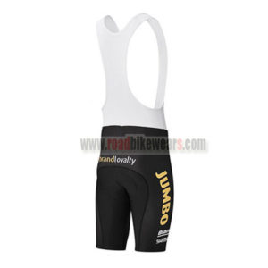 2017 Team LOTTO JUMBO Riding Bib Shorts Bottoms Black