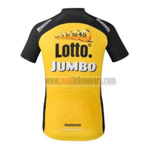 2017 Team LOTTO JUMBO Riding Jersey Maillot Shirt Yellow Black