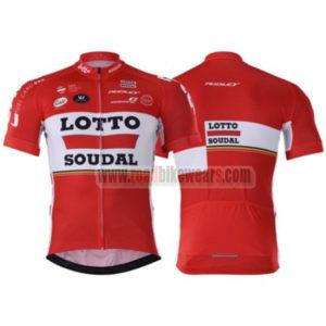2017 Team LOTTO SOUDAL Biking Jersey Maillot Shirt Red