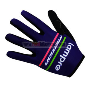 2017 Team Lampre MERIDA Cycling Long Gloves Full Fingers Purple