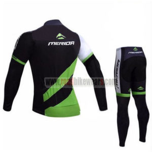 2017 Team MERIDA Bicycle Long Suit Black Green