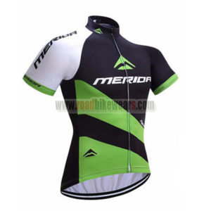 2017 Team MERIDA Bike Jersey Maillot Shirt Black Green