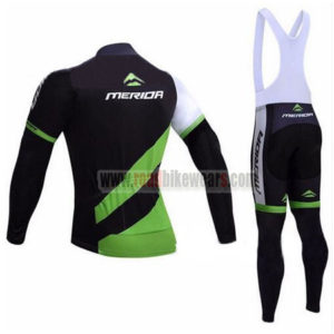 2017 Team MERIDA Biking Long Bib Suit Black Green