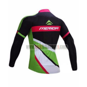 2017 Team MERIDA Biking Long Jersey Maillot Black Green Pink
