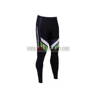 2017 Team MERIDA Biking Long Pants Tights Black White Green