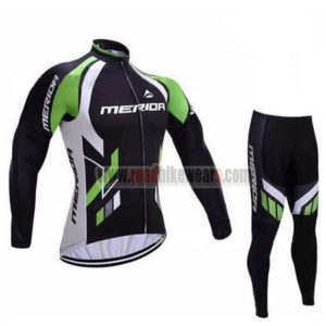 2017 Team MERIDA Biking Long Suit Black White Green