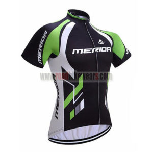 2017 Team MERIDA Cycle Jersey Maillot Shirt Black Green