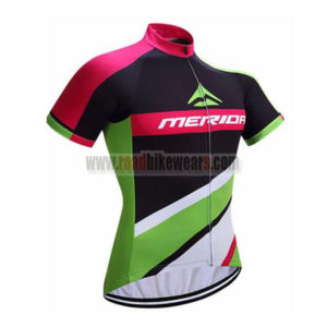2017 Team MERIDA Cycle Jersey Maillot Shirt Black Green Red