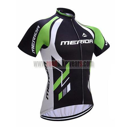 2017 Team MERIDA Cycle Jersey Maillot Shirt Black Green