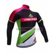 2017 Team MERIDA Cycle Long Jersey Maillot Black Green Pink