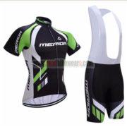 2017 Team MERIDA Cycling Bib Kit Black Green