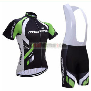 2017 Team MERIDA Cycling Bib Kit Black Green