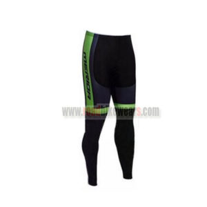 2017 Team MERIDA Cycling Long Pants Tights Black Green