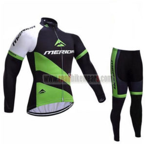 2017 Team MERIDA Cycling Long Suit Black Green