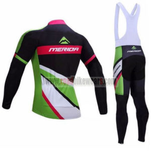 2017 Team MERIDA Racing Long Bib Suit Black Green Pink