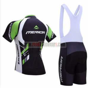 2017 Team MERIDA Riding Bib Kit Black Green