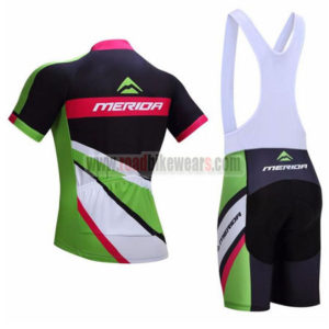 2017 Team MERIDA Riding Bib Kit Black Green Red