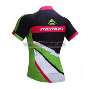 2017 Team MERIDA Riding Jersey Maillot Shirt Black Green Red