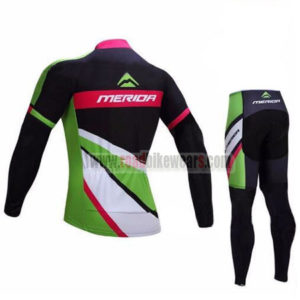 2017 Team MERIDA Riding Suit Black Green Pink
