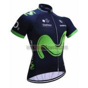 2017 Team Movistar Cycling Jersey Maillot Shirt Blue