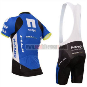 2017 Team NetApp Cycle Bib Kit Black Blue White