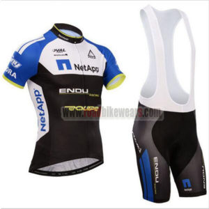 2017 Team NetApp Cycling Bib Kit Black Blue White