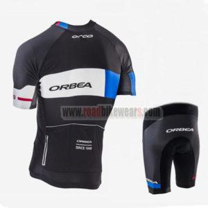 2017 Team ORBEA Biking Kit Black White Blue