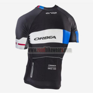 2017 Team ORBEA Cycle Jersey Maillot Shirt Black White Blue