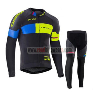2017 Team ORBEA Cycle Long Suit Black Blue Yellow