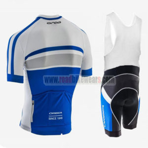 2017 Team ORBEA Riding Bib Kit White Blue