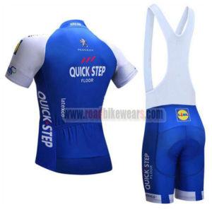 2017 Team QUICK STEP Riding Bib Kit Blue White
