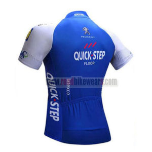 2017 Team QUICK STEP Riding Jersey Maillot Shirt Blue White