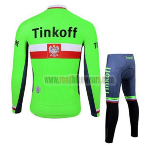 2017 Team Tinkoff Poland Bike Riding Suit Green