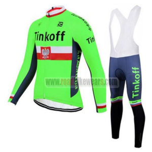 2017 Team Tinkoff Poland Cycling Bib Suit Green