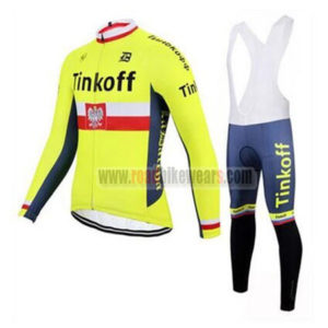 2017 Team Tinkoff Poland Cycling Bib Suit Yellow