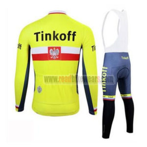 2017 Team Tinkoff Poland Riding Bib Suit Yellow