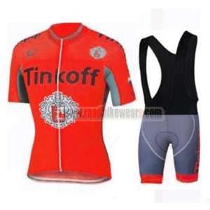 2017 Team Tinkoff Biking Wear Cycle Jersey and Padded Bib Shorts Roupas  Bicicleta Red 8617e583a