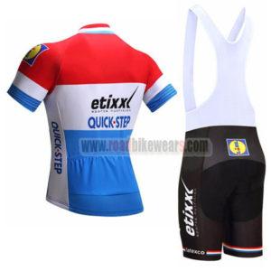 2017 Team etixxl QUICK STEP Riding Bib Kit Red Blue