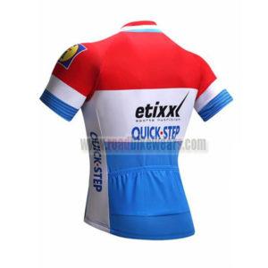 2017 Team etixxl QUICK STEP Riding Jersey Maillot Shirt Red Blue