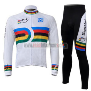2010 Team Santini UCI Champion Racing Long Suit White Rainbow