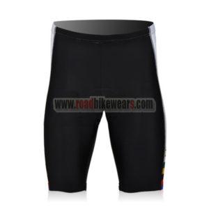 2010 Team Santini UCI Champion Riding Shorts Bottoms Black White Rainbow