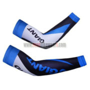 2012 Team GIANT Cycling Arm Warmers Sleeves Black White Blue