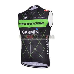 83b0aea93 2015 Team Cannondale GARMIN Riding Apparel Cycle Sleeveless Jersey Tank Top  Maillot Cycliste Black Green