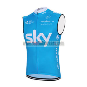 2015 Team SKY Riding Apparel Cycle Sleeveless Jersey Tank Top Maillot  Cycliste Blue 5ad46fec4