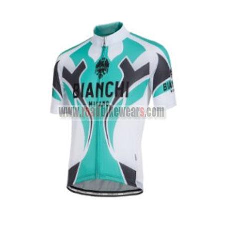2016 Team BIANCHI MILANO Bike Jersey Maillot Shirt White Blue